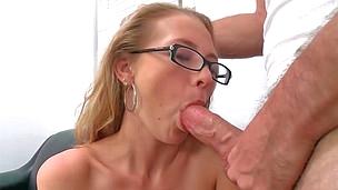 Splendid blonde bombshell Natasha gets pounded stiff on a couch