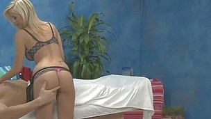 rubdown therapist Britney B gives a little more than rubdown