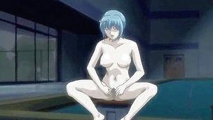 Impatient hentai hardcore in public place