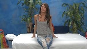 Stellar eighteen year old Cassandra gives MORE than just a massage.