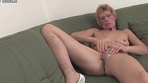 Nasty blond housewife and her fucktoy