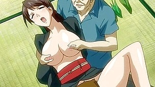 Old and youthful dude nailing the holes of hentai cutie