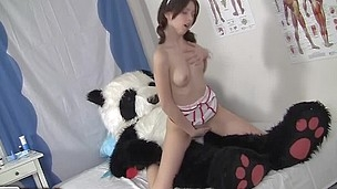 Sexy nurse in sheer pants fucking