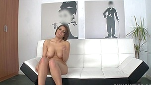 Short haired and sexy cutie is having deep hardcore screw