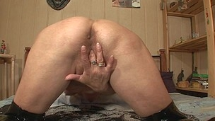 Wicked housewife playing with her vagina