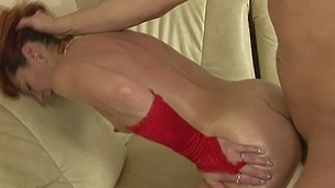 This nasty housewife gets an anal creampie