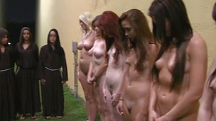 Gang of sapphic sexy babes are going crazy while gathered for pussy pleasing