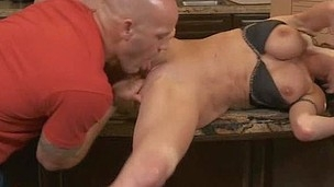 Sandbar oozes mouth and pussy