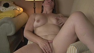 wild housewife playing with herself