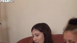 Jana and Sarah love to engulf a men ramrods