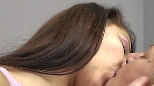 Old and youthful lesbian honies Frederica and Rashinda go nasty
