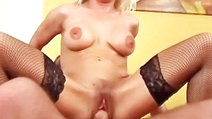 Hotty Adela Golden-Haired rides her stud.