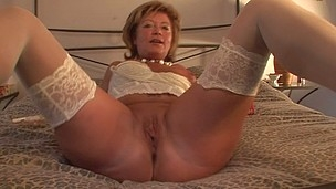 Chic older D/s getting herself moist